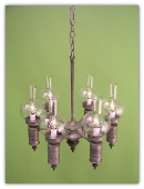 RUSTIC METAL CHANDELIER
