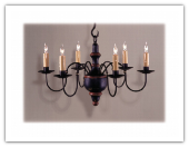 CH-V 6 arm Wooden Chandelier