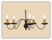 Clayton Wrought Iron Chandelier