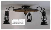 Wagon Wheel Flush Mount Chandelier