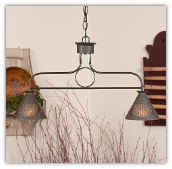 Franklin 6 arm Wrought Iron  Chandelier