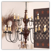 Harrison 2 Tier Rustic Chandelier