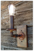 Industrial Steel Pipe Rustic Sconce