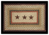 Braided Rug Barn Star Rectangle