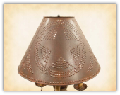 Pierced Tin Lampshade Star or Willow Tree