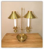 Solid Brass 2 Shade Table Lamp