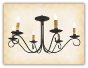 Washington Wrought Iron Flat Mount Chandelier