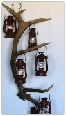 Antler Wall Sconce Candle Lantern