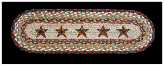 Braided Rug Barn Stars Stair Treads (Set of 4)