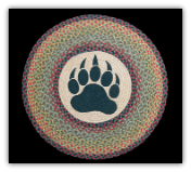 Braided Rug Round Bear Paw