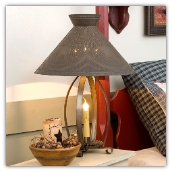 Betsy RossTin Country Table Lamp with Tin Shade