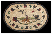 Braided Rug Bucking Bronco