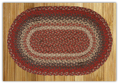 Braided Rug Oval Burgundy