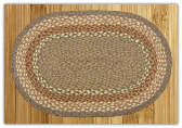Braided Rug Oval Mustard Ivory