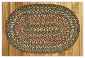 Braided Rug Oval Fir Ivory