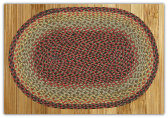 Braided Rug Oval Burgundy Black Sage