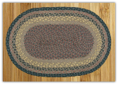 Braided Rug Oval Brown Black Charcoal