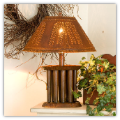 Candle Mold Lamp with Willow Tin Shade