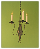 Shaker Style Mini-Chandelier 3 arm