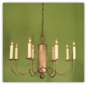 Colonial Reproduction Metal Chandelier