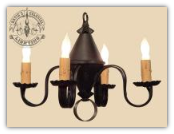 Rustic Cottage Tin Chandelier