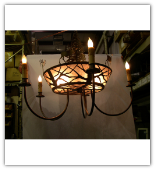 Elk on the Loose 5 arm Chandelier
