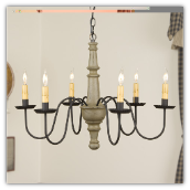 Harrison 6 arm Rustic Chandelier