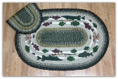 Lodge #2 Oval Patch 4X6 Braided Rug