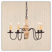 Lynchburg 5 Arm Wooden Chandelier