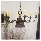 Madison Punched Tin Chandelier-Blackened Tin Finish