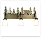 Northwoods Lone Bear 3 Light Vanity