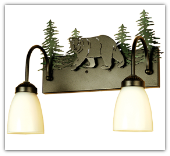 Northwoods Lone Bear 2 Light Vanity