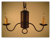 Primitive Wrought Iron Oil Can Chandelier