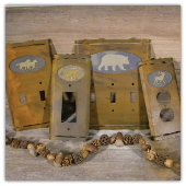 Rustic Outlet Plate SET