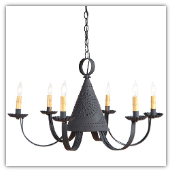 Pennycress Pierced Tin Chandelier