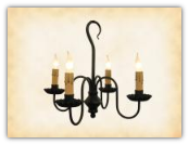 Peppermill Wrought Iron Chandelier