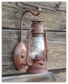 A Old Time Rustic Oil Lantern Electric Wall Sconce 2