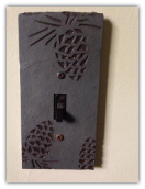 Slate Switch Plate Pinecone