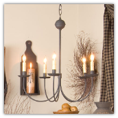Primitive Wrought Iron Chandelier
