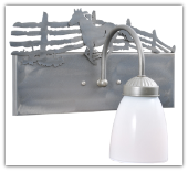 Running Horse Single Vanity Light