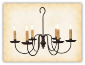 Wilcox Wrought Iron Rustic Chandelier
