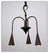 Willow Tree Rustic 3 Arm Chandelier