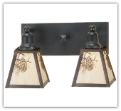 Winter Pine Double Vanity Sconce
